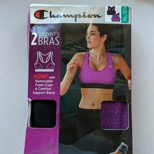 Champion sports bras XL (2) nwt